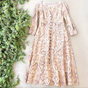 Mara Hoffman Silvana Snake-Print Midi Dress